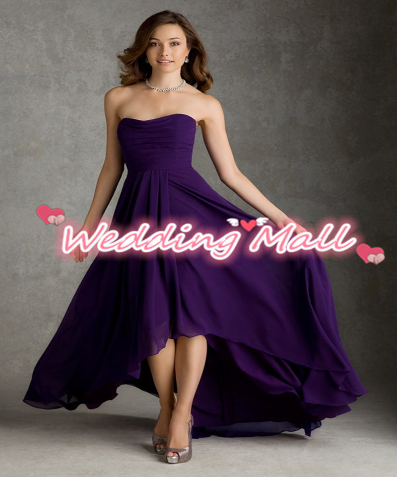 2015 cheap party dress girls long plus size purple for Plus size purple wedding dress