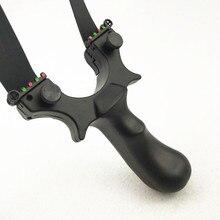 Slingshot hunting resin catapult with flat rubber band black slingshot outdoor shooting new цена в Москве и Питере