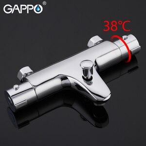 Image 3 - GAPPO mitigeur de bain thermostatique avec robinets de douche, mitigeur de bain à cascade mural Y30504