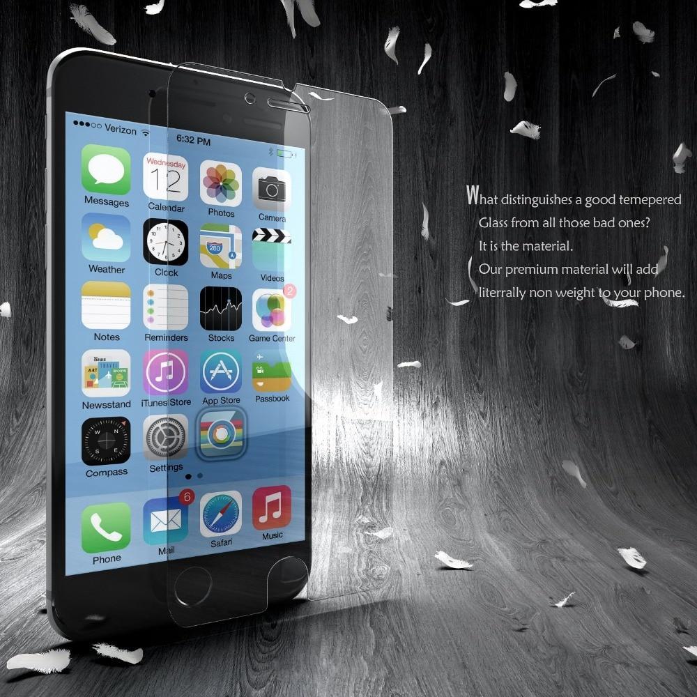 bilder für 100 teile/los pelicula de vidro Explosionsgeschützte Erstklassiger Ausgeglichenes Glas-schirm-schutz Für iPhone 6 6 s 4,7 zoll schutzhülle film
