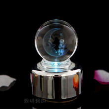 XXXG Special offer LED flash Ferris wheel crystal ball music box music box decoration crafts gift