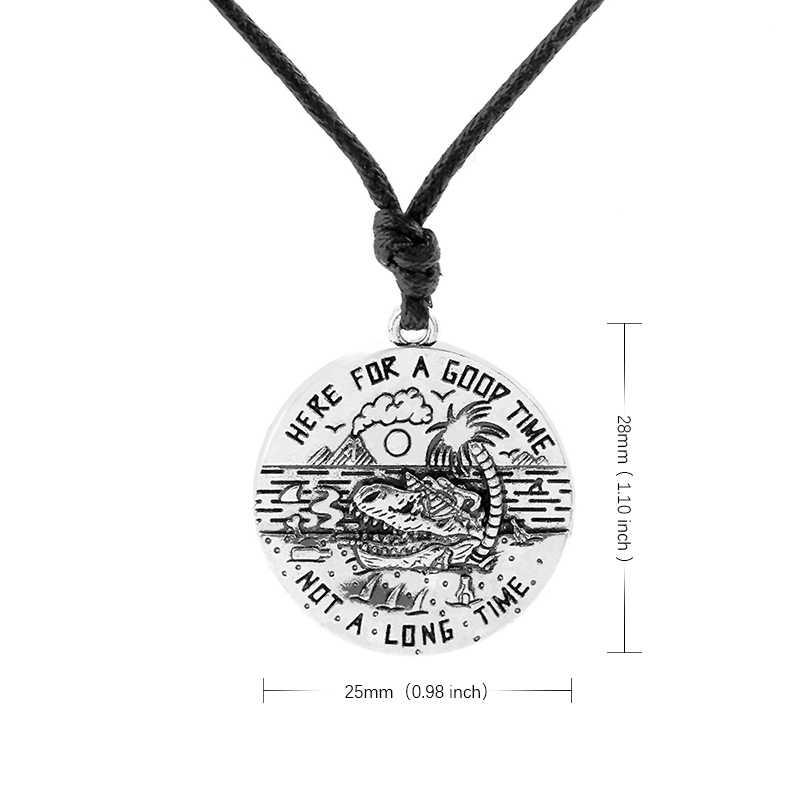 Benim şekli KALP IYI Bir ZAMAN BOT UZUN Süre mesaj kolye antika gümüş kadın kolye deniz köpekbalığı hindistan cevizi ağaç seyahat