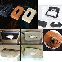 1pcs Sun Visor Sun Shading Board Car Tissue Box Plastic Hanging Pumping Paper Napkin Box