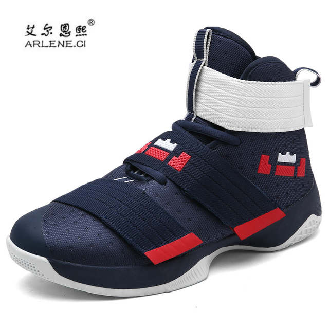 US $21.37 35% OFF|2019 Professional Basketball Shoes Lebron James High Top Gym Trainer Boots Ankle Boots Outdoor Men Sneakers Athletic Sport Shoes in
