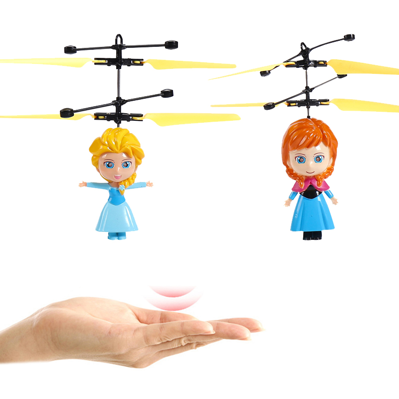 Frozen Q Posket Queen Elsa Anna Magic Flying Ball LED Luminous Flight Balls Electronic Infrared Induction Remote Control Toys