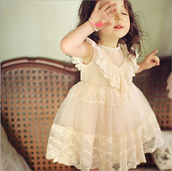 New baby girl dress 2016 summer party sleeveless girls tutu dress princess chiffon toddler lace flower clothes vestido crown princess 1 year girl birthday dress headband infant lace tutu set toddler party outfits vestido cotton baby girl clothes