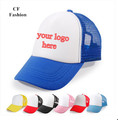 quick custom logo snapback caps for kids students child trucker cap mesh baseball hat cap image texts print for team 5pcs/lot