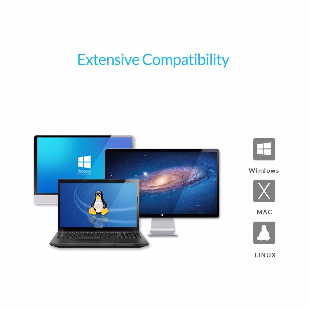 ORICO 3139U3 3.5 դյույմ թափանցիկ HDD պարիսպ USB - Արտաքին պահեստավորման սարքեր - Լուսանկար 5