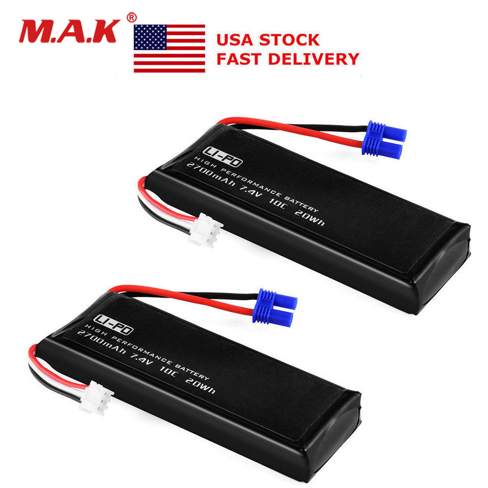 US 10C <font><b>7.4V</b></font> 2700mAh <font><b>Li</b></font>-<font><b>po</b></font> Rechargable Battery for Hubsan H501S H501A X4 Quad Accessory image