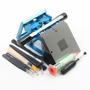 Image 3 - BGA fixtures 90x90 Reballing Station Reballing Bga Sik tin template solder paste soldering flux for Laptop Gameconsole