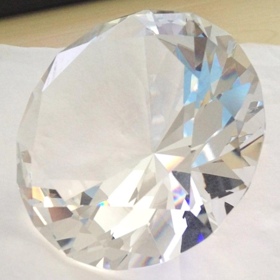 Купить с кэшбэком Clear Crystal Glass Diamond Jewelry Display Decorations Paperweight Wedding