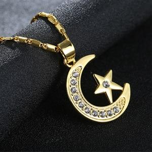 Image 3 - Bán Thời Trang Trung Đông Hồi Giáo Tôn Giáo/trăng/sao vòng cổ Hồi Giáo Allah mặt dây chuyền phụ nữ Arab đồ trang sức phụ kiện