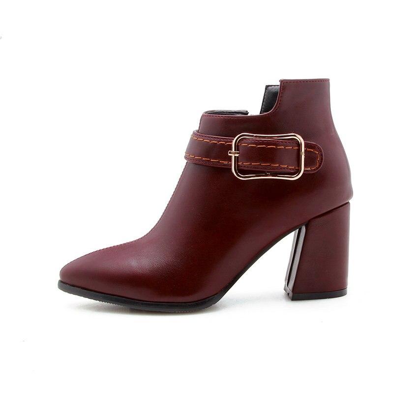 alti Stivaletti Leather Scarpe Donna 34 Esveva Inverno Zipper Pu Beige Nero  43 Vino Square Moda ... 5fa189516ba