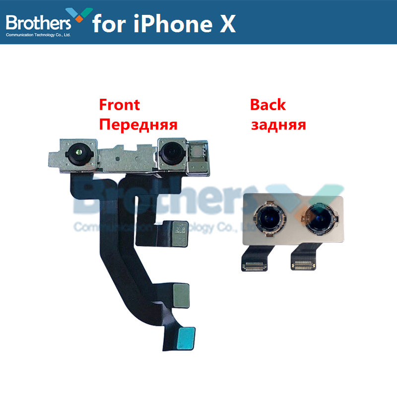 Back Camera For IPhone X Rear Big Camera For  IPhone X Rear Camera Module Flex Cable Front Camera Original Phone Replacement Top