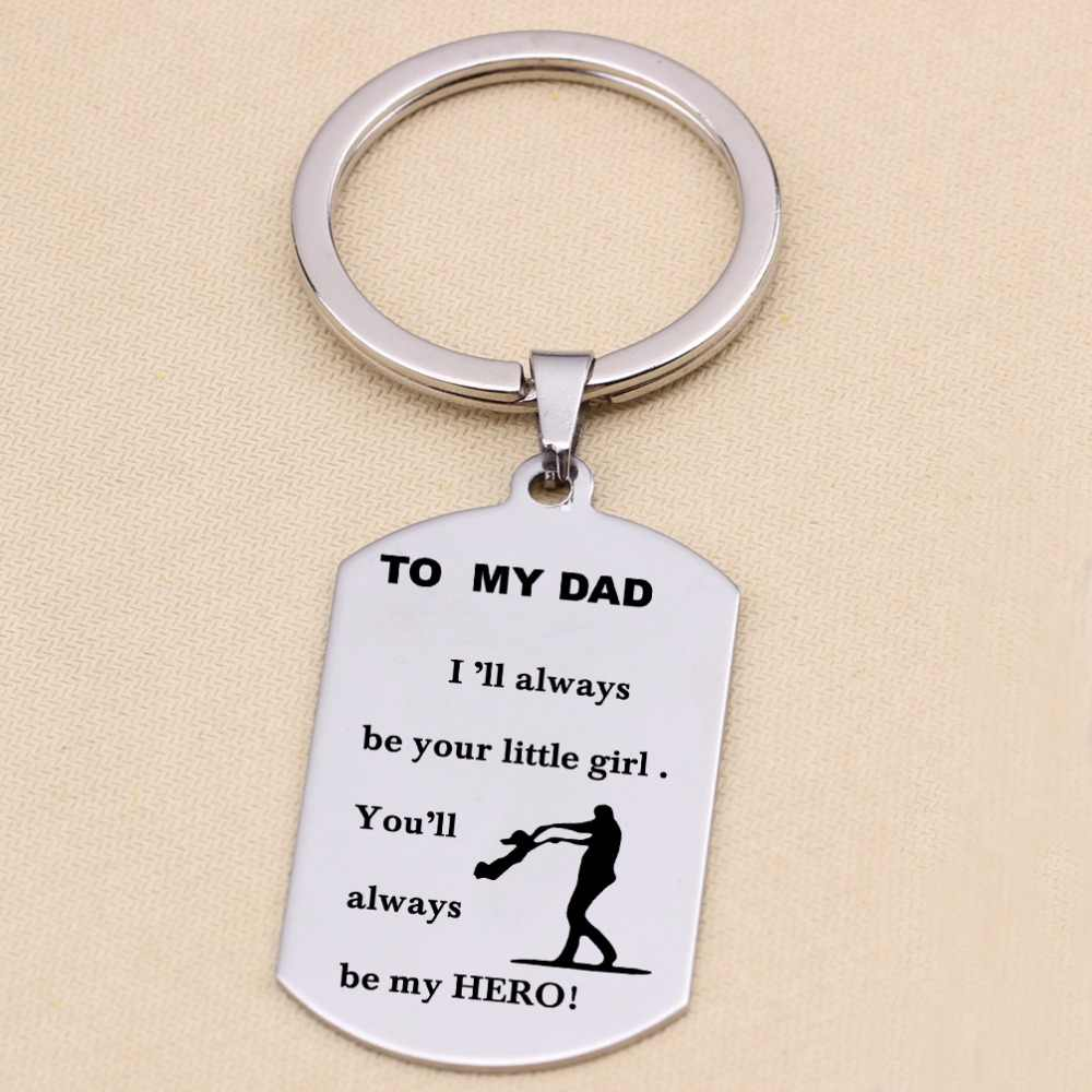 Untuk Ayahku, Aku Akan Selalu Menjadi Gadis Kecil Anda Selalu Menjadi Pahlawan Terukir Putri Gantungan Kunci ayah Terima Kasih Memberikan Hadiah
