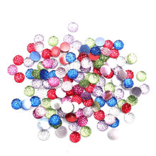 300pcs Mixed Round Bling Resin Decoration Craft Flatback Cabochon Embellishments For Scrapbooking Diy Accessories