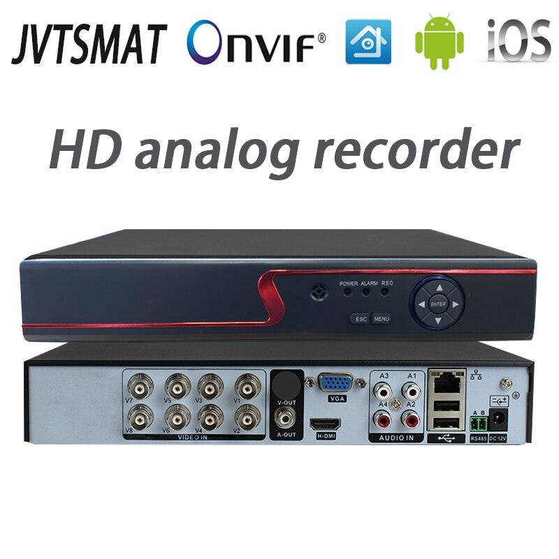 jvtsmart AHD DVR 4Channel 8Channel Video Recorder 5in1 CCTV AHD CVI TVI Analog IP Hybrid Security