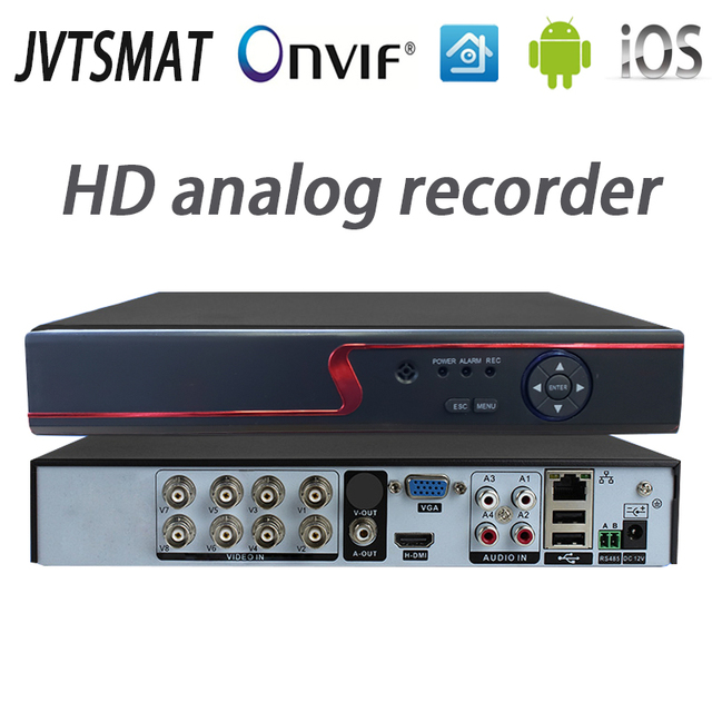 Jvtsmart AHD DVR 4 Kanal 8 Kanal Video Kaydedici 5in1 CCTV AHD CVI TVI Analog IP Hibrid Güvenlik DVR 1080 P 1080n NVR 4CH 8CH xm