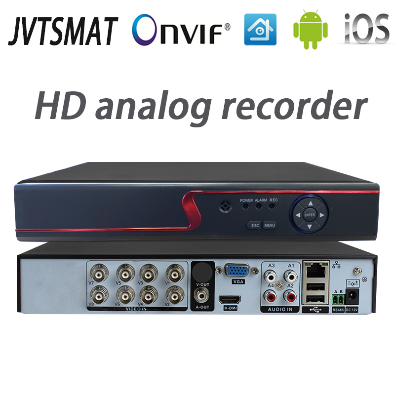 jvtsmart AHD DVR 4Channel 8Channel Video Recorder 5in1 CCTV AHD CVI TVI Analog IP Hybrid Security DVR 1080P 1080n NVR 4CH 8CH xm-in Surveillance Video Recorder from Security & Protection    1