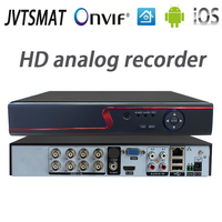 jvtsmart AHD DVR 4Channel 8Channel Video Recorder 5in1 CCTV AHD CVI TVI Analog IP Hybrid Security DVR 1080P 1080n NVR 4CH 8CH xm