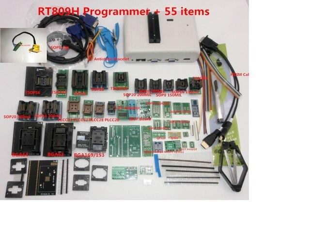 משלוח חינם מקורי RT809H EMMC Nand מתכנת TSOP56 TSOP48 EDID כבל ISP Header01 VGA HDMI BGA63 BGA64 BGA169