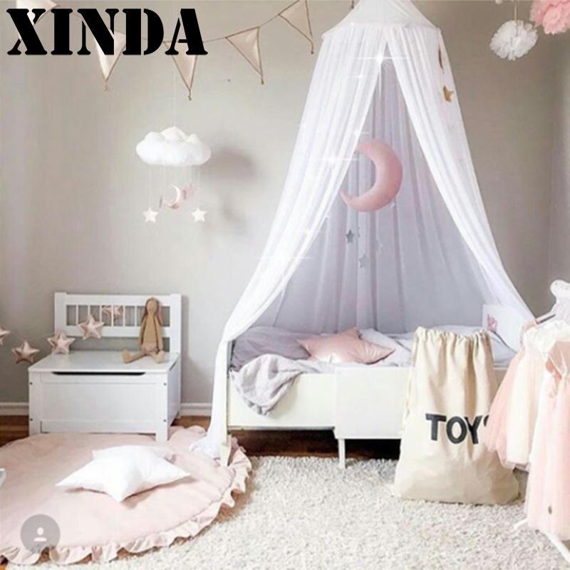 precioso algodn dosel carpa carpas mosquiteras mosquito del beb kid reading manto cenefa camas textiles para el hogar suminist