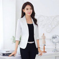 Spring Fashion Women 4 Colors Slim Fit Blazer Jackets Notched Long Sleeve Blazer Women Coat One