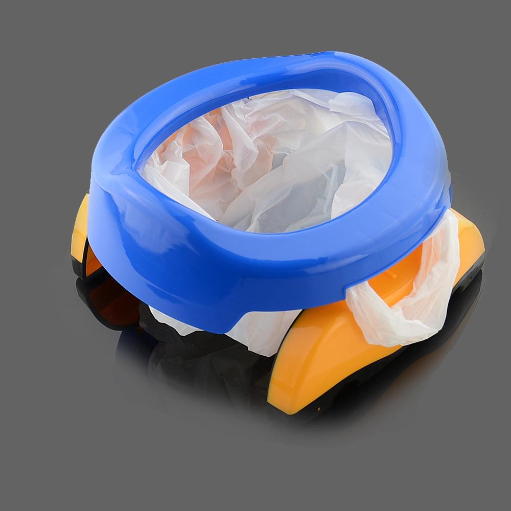 1 stück baby kunststoff toilettensitz säuglingskammer töpfe ring kinder kinder trainer tragbare töpfchen wc falten bequemen stuhl