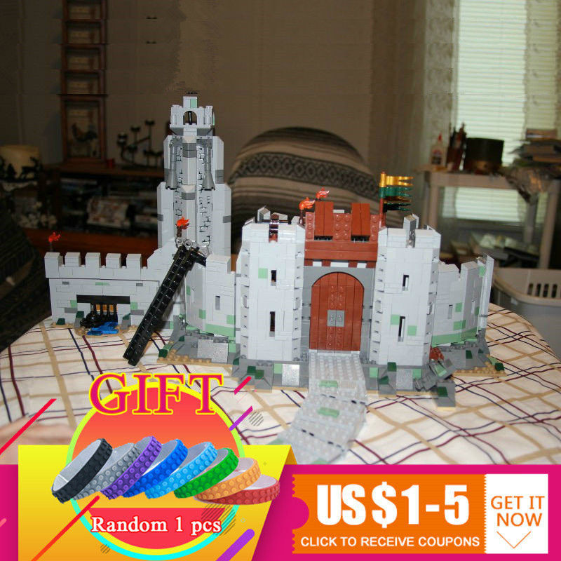 16013 1368Pcs The Lord of the Rings Series The Battle Of Helm' Deep Model Building Blocks Bricks Compatible with 9474 toys lepin pg931 the hobbit desolation of smaug 79018 the lonely mountain dol guldor battle building blocks educationa compatible with lpin