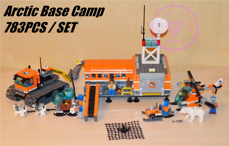 New City Arctic Base Camp fit legoings city figures Model Building Blocks Bricks diy Toys Children 60036 gift kid city boys new city police station fit legoings city swat police figures building blocks bricks model 60141 gift kid kids boys diy toys