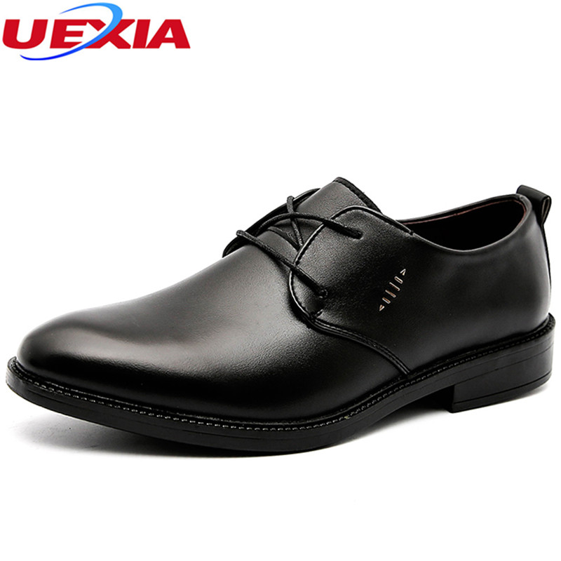 UEXIA 2018 New Designer Formal Wear Oxfords Leather Shoes For Men Full Brogues Shoes Men Dress Shoe Flats Male Mocassin Oxford