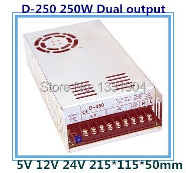 Nouveau original AC à DC LED double sortie alimentation à découpage D-250, 250 W AC entrée, tension de sortie DC 5 V 24 V transformateur