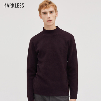 Markless Pullover Sweaters Men sueter hombre 2018 Autumn Winter Thick Warm Turtleneck Sweaters Slim Fit pull homme MSA8707M markless o neck sweater men 100% cotton winter warm stripe sweaters pullover men christmas pull homme sueter hombre msa3710m
