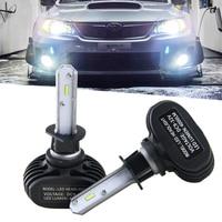 CSP Chips Led Headlight S1 H1 Headlamp Bulbs 6000K White Car Headlight Kit 50W For Cars