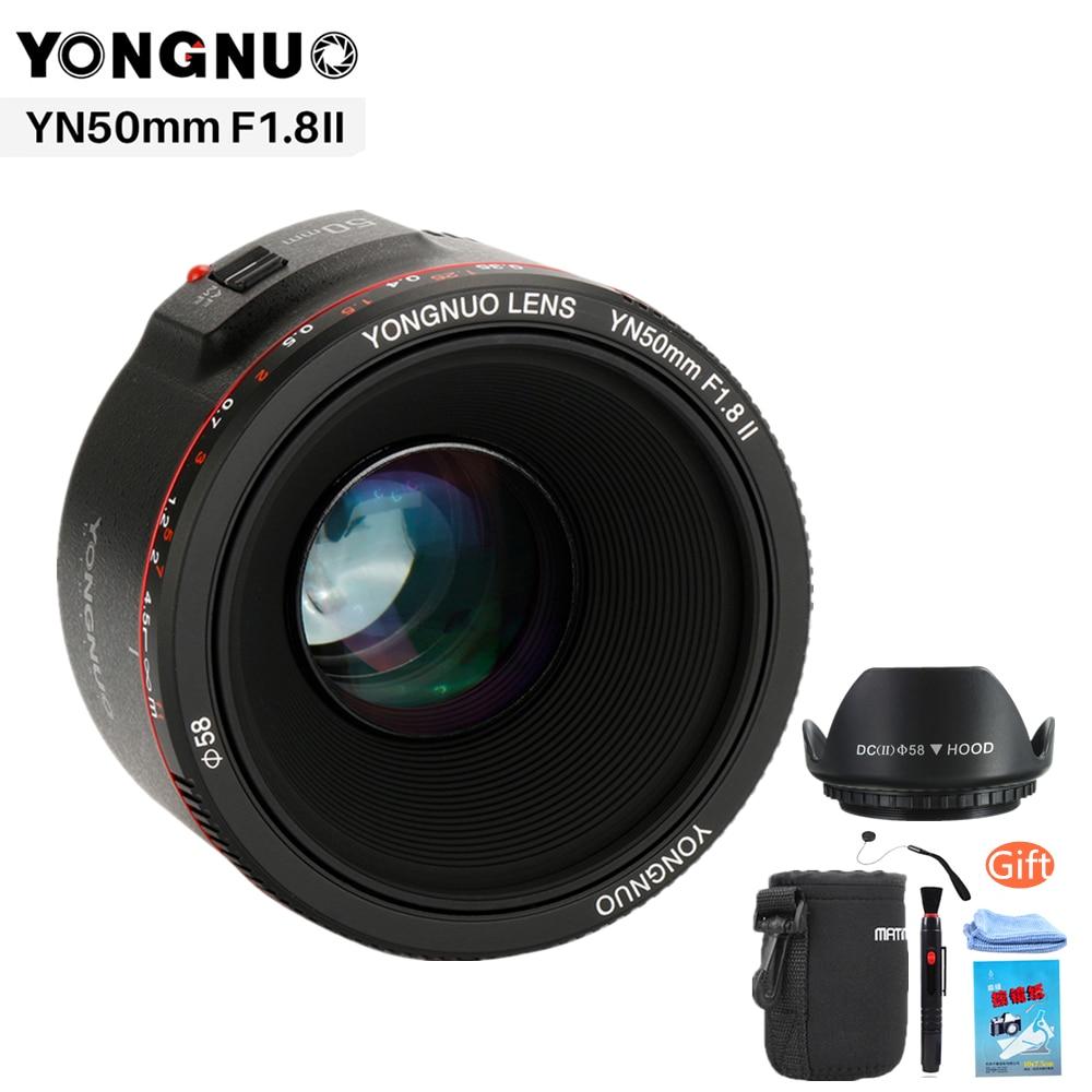 YONGNUO YN50mm F1.8 II Grande Ouverture Auto Focus Lens pour Canon Bokeh Effet Camera Lens pour Canon EOS 70D 5D3 5D2 600D DSLR