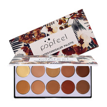 POPFEEL 10 Color Concealer Contour Palette Ten-color Palette Makeup Concealer face makeup все цены