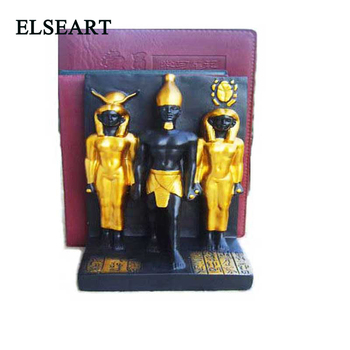 A pair of Ancient Egypt Vintage Resin Bookend Shelf Bookend Holder Office Supplies Home Decoration Book Stand