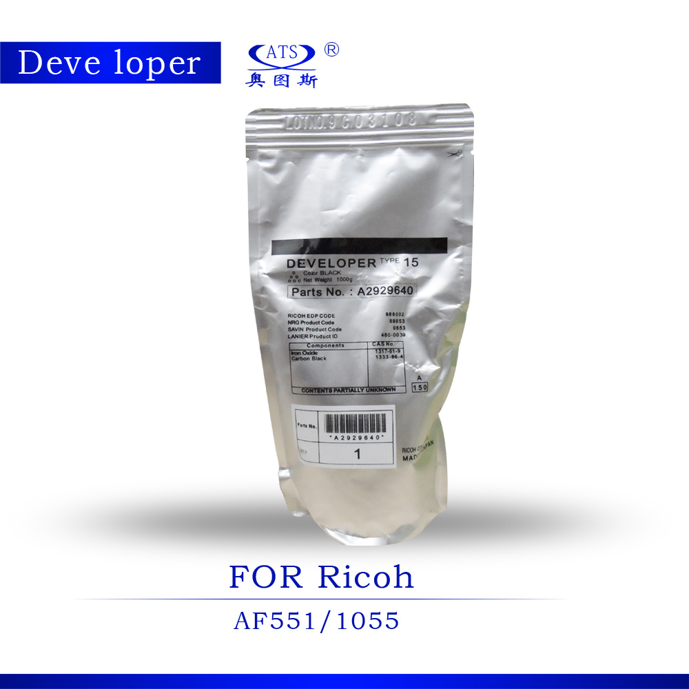 Aficio 1PCS 1000g Copier Toner Type 15 Developer Powder A2929640 Photocopy Machine for Ricoh  Developer Parts AF551 AF1055 детская одежда