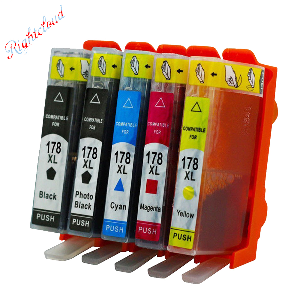 Hisaint Hot 178 XL Ink Cartridges For HP 178 Ink Cartridges B010b B109c B110a B209b B210b