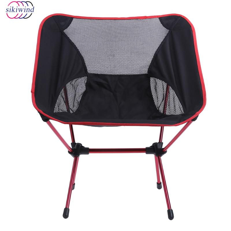 Hot Sale Lightweight Folding Camping Chair Portable Outdoor Fishing Seat for Foldable Picnic BBQ Beach Party with Bag Red 1pcs lightweight folding fishing chair portable camping stool seat foldable chairs seat for fishing pesca picnic beach party bbq
