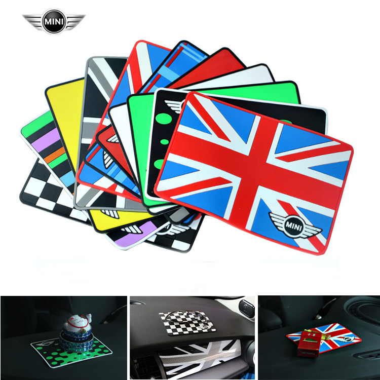 Non-slip Union jack Car Rubber Phone Non-slip Mat Skid Pad For mini cooper countryman R60 F55 ect car styling inner decoration цена