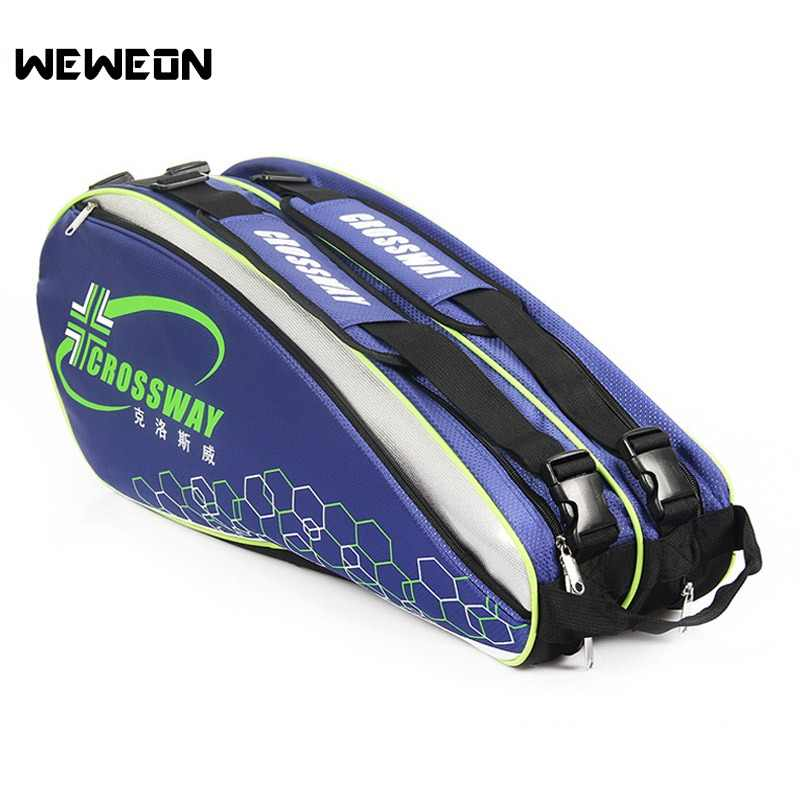 9Pcs Professional Racquet Sports Bag Large Tennis Bag Racket Backpack 2019 Badminton Bag/Accessories for Shoes Stroage