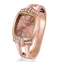 Fashion women quartz watches rose gold ladies Bangle Watch popular designer rhinestone watch relogio feminino 2016 New hot sell