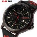 Мужские кварцевые часы ELMERA  повседневные кожаные Наручные часы  2019