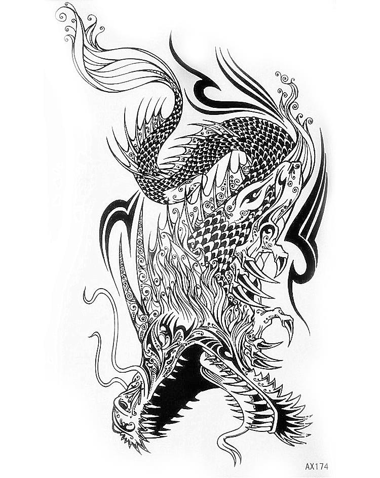 Flying dragon tattoos reviews online shopping flying for Dragon tattoo drawings
