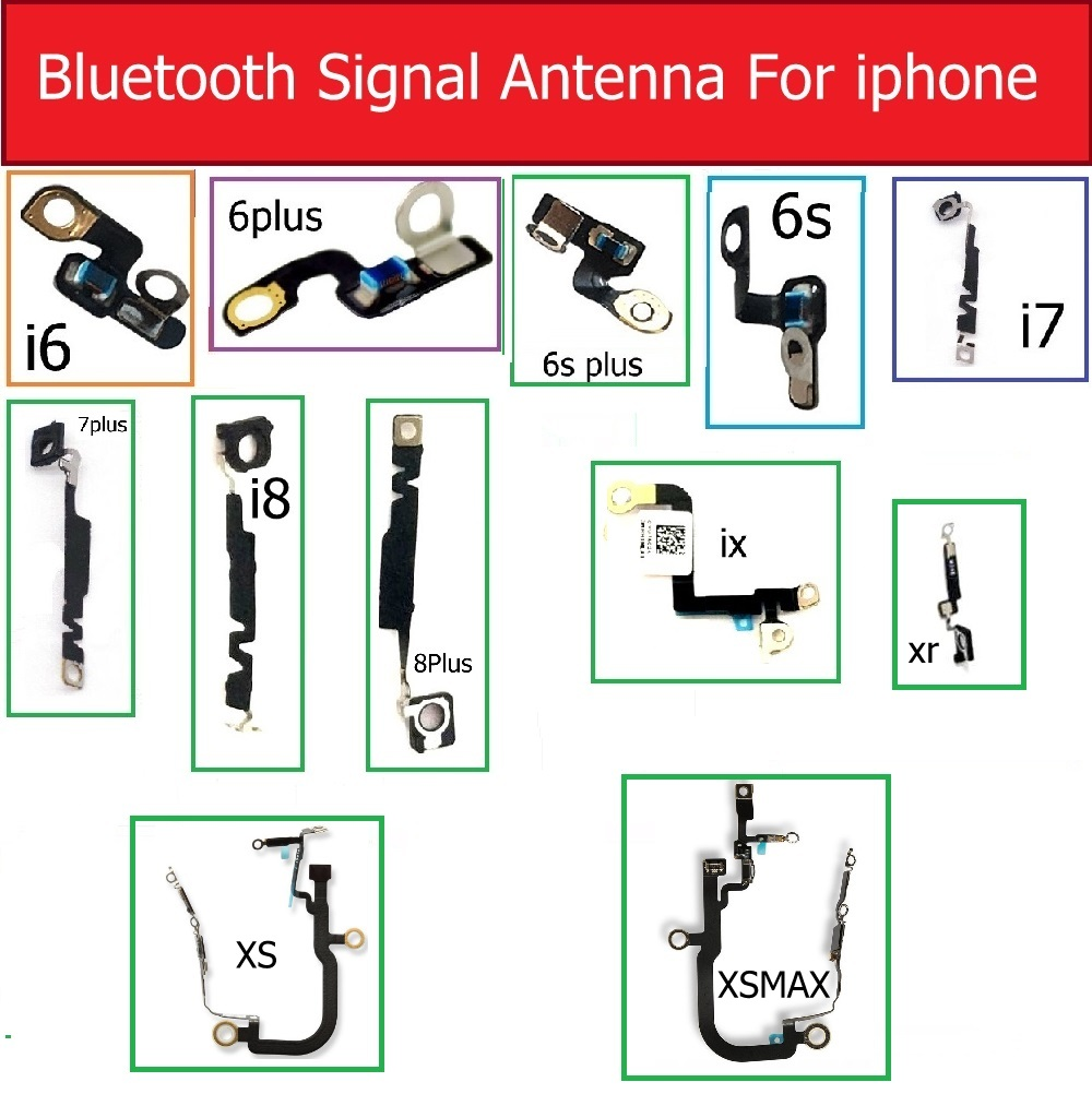 Genuine Antenna signal Bluetooth For iPhone 6s 7 8 Plus X Xr Xs Max NFC Chip Camera Clip Button Webcam on the right replacement image