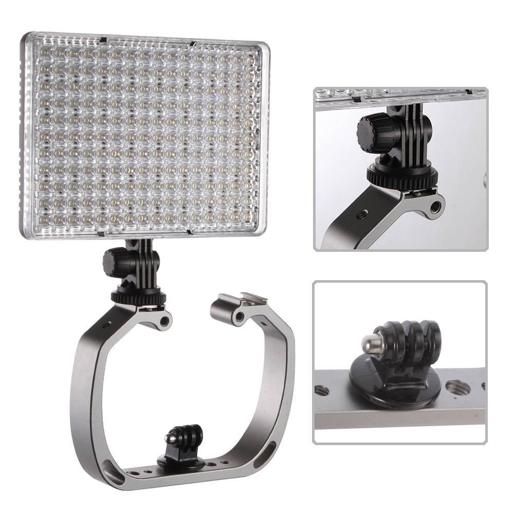Double Flash Stand Holder Handhled Hot Shoe Bracket 1/4 3/8 Underwater for GoPro 3 4 5 6 XiaoYi SJ Sport Camera