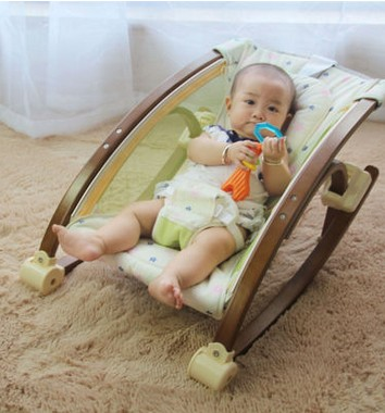 Solid wood coax artifact baby sleeping basket baby supplies childrens rocking chair chai ...