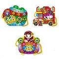 Hot vendas moda brinquedos dos desenhos animados sacos artesanais diy hand-sewn diamante brinquedos educativos para criança