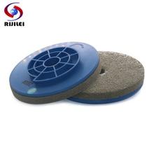 RIJILEI 456 inch Snail lock diamond edge polishing pads for stone Nylon Sponge Edge Chamfering grinding disc